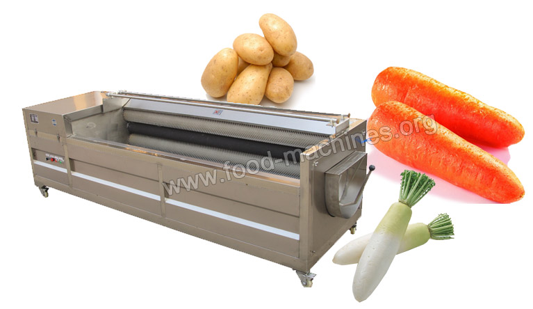 Brush Type Vegetable/Fruit Washing&Peeling Machine