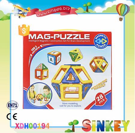 Hot Selling 28pcs educational plastic magnetic building blocks toys education toy for preschool children kids