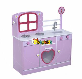 wholesale purple kids wooden toy kitchen sale new design children wooden toy kitchen sale wooden toy kitchen sale W10C264