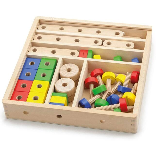 ECO-Friendly Educational Toys Wooden Construction Building Set Wooden Tool Box Toys