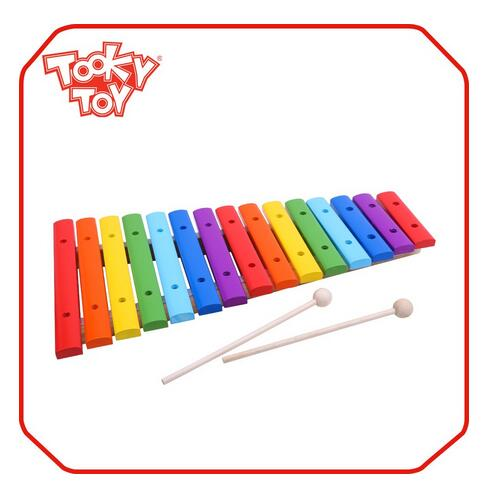 Children & Kids Lovely Musical Wood Toy 15-Note Xylophone