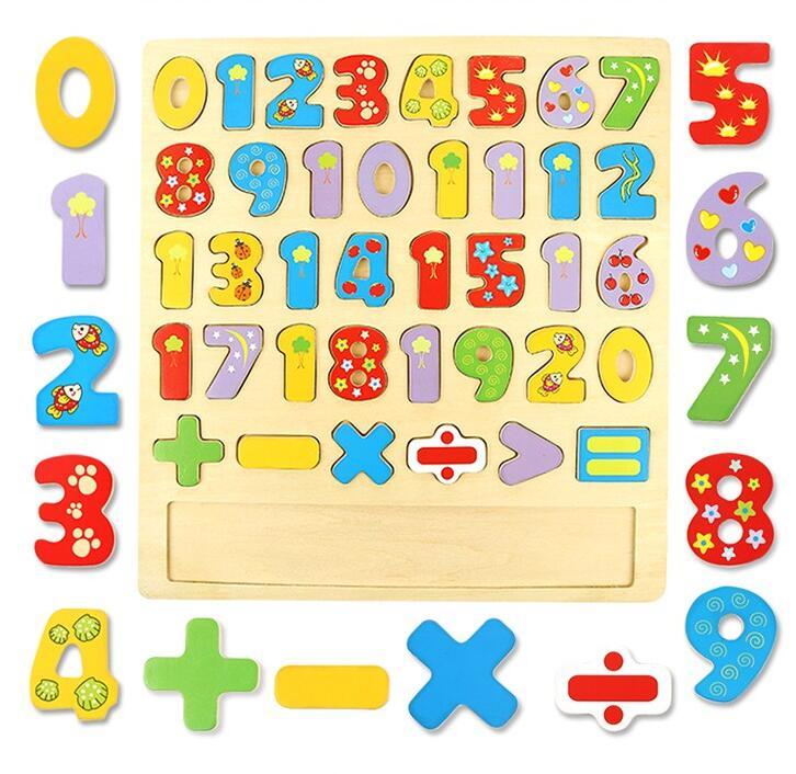 children education toys new design wooden Digital 3D puzzle toys