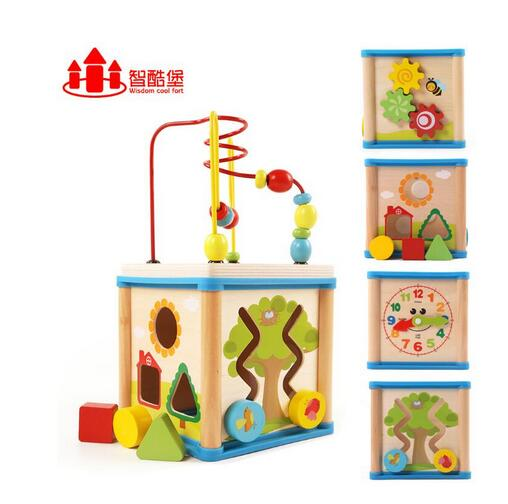 children toys new style educational toys wood cube toys with small size
