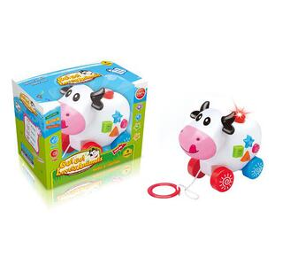 wholesale B/O light and music cow toys