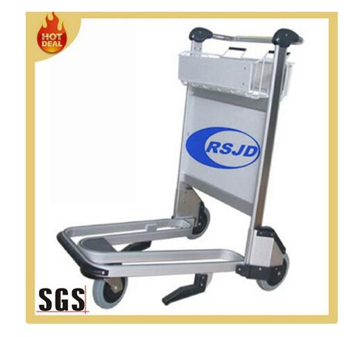 China aluminum airport luggage trolley with brake