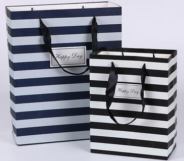 high quality stripe paper bag