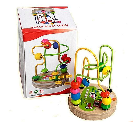 Educational toy mini wire maze China wooden toy for kids