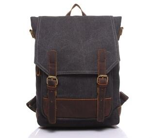 YD-1914 Unisex custom designer vintage laptop backpack canvas satchel for teenagers