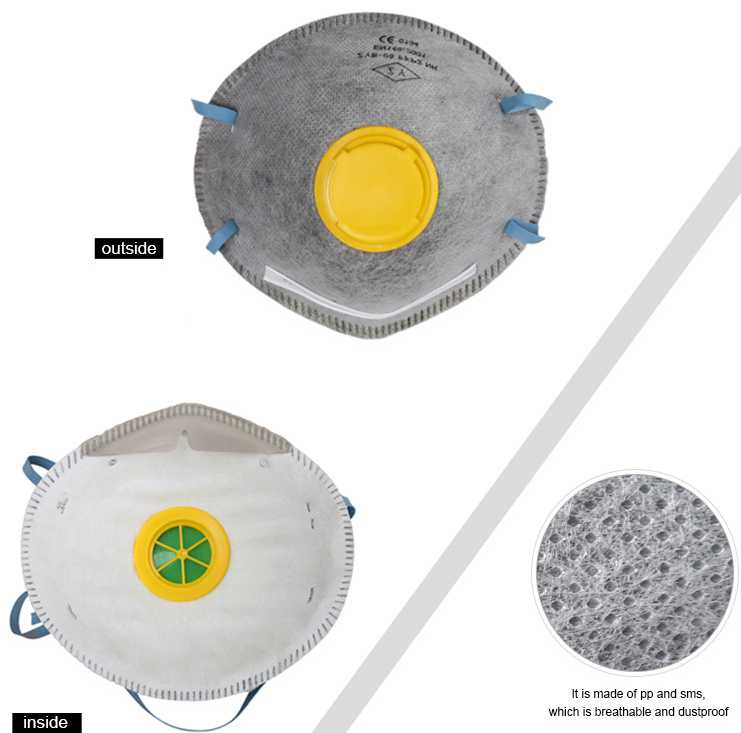 Gray FPP2 Surgical Disposable Face Mask