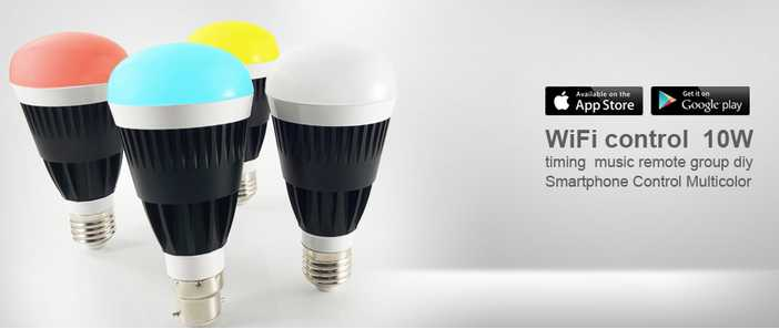 WiFi LED Bulb, 10W Dimmable Color Changing Smart WiFi LED Bulb