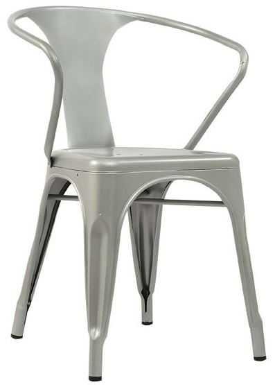 Vintage antique marais metal industrial arm rest chairs