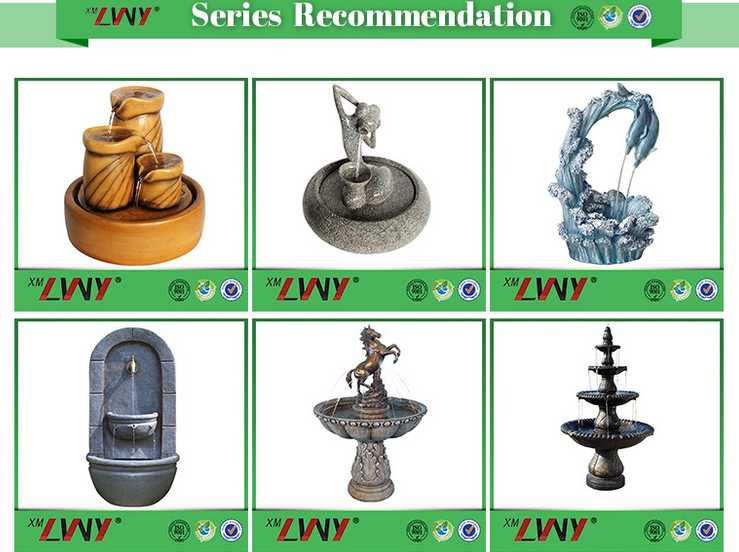 Specialized decoration eagle water standing resin garden fountain