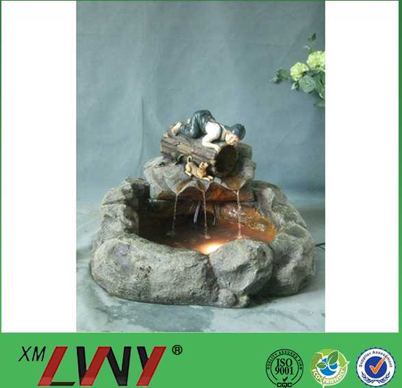 New design outdoor decoration countryside resin pool fountain