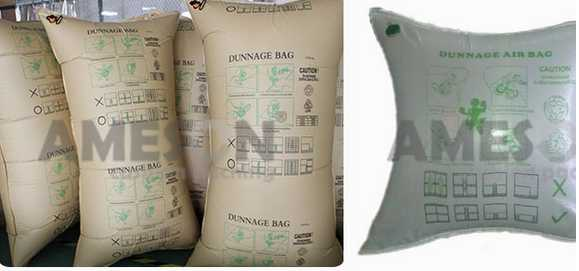 dunnage bag to prevent the collapse of the goods inside the container