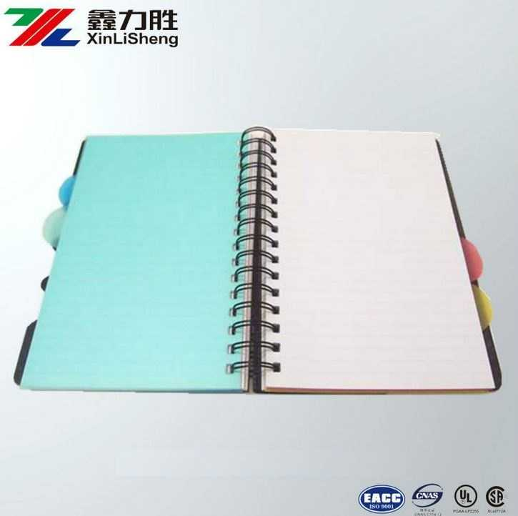 PVC spiral note book with ear mark printing | Recycle Hard Cover Office Notebook with colorful Marking
