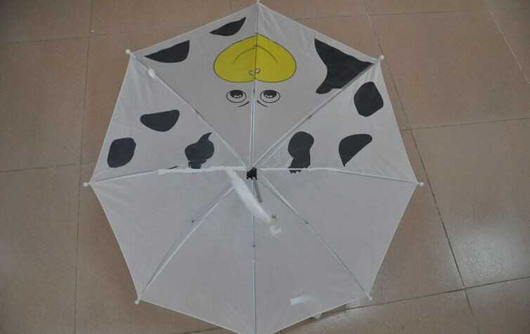 kids straight custom animal umbrella,manual open cute animal umbrella with ear