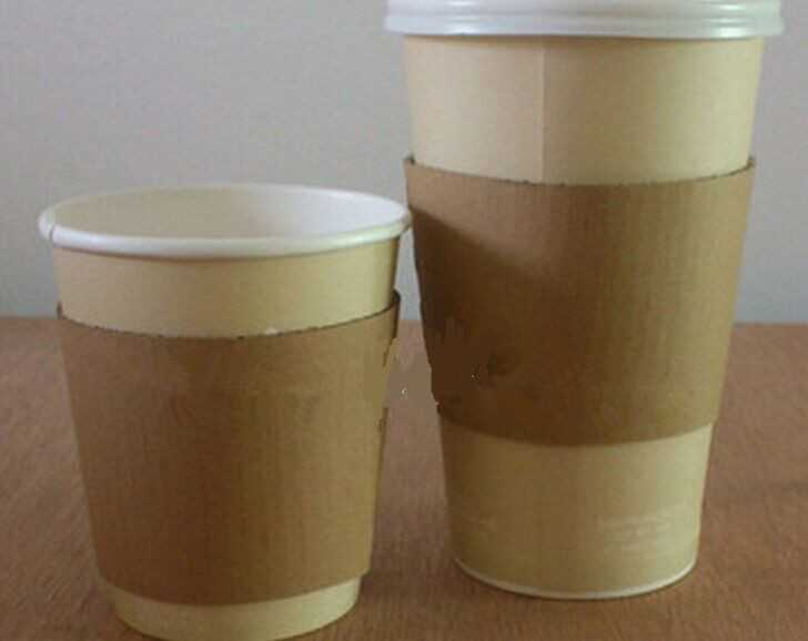Custom logo printed disposable coffee cup paper sleeve