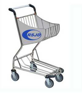 4 wheels airside airport shopping trolley
