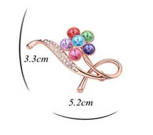 High End Fashion Trendy Jewelry 2015 flower brooch