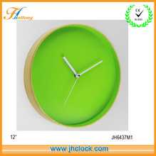 Green Color Without numbers Fancy Wall Clock