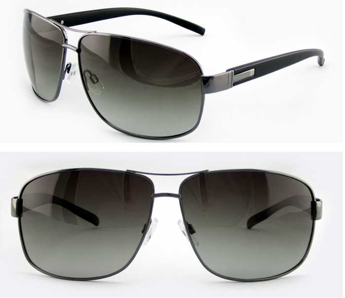 2015 Italy design metal frame sunglasses with polarized lens