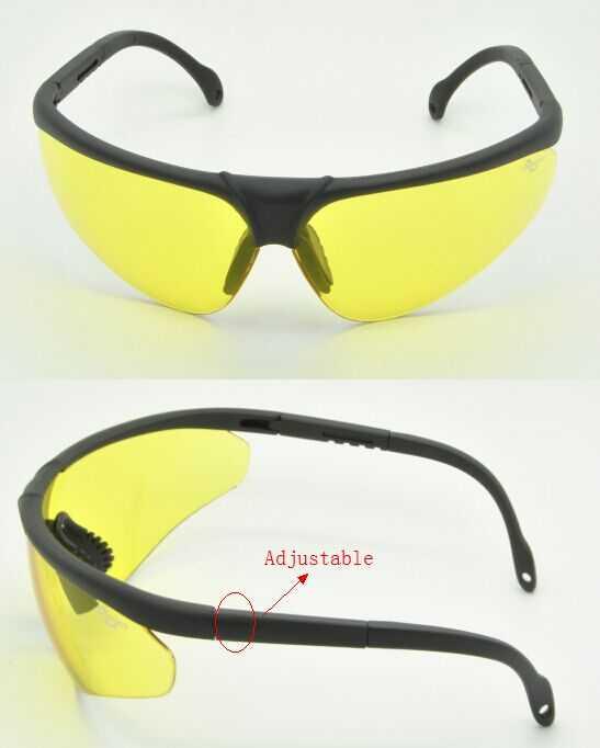 matt black frame night vision lens safety goggle