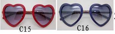 2015 latest fashionable heart shape sunglasses