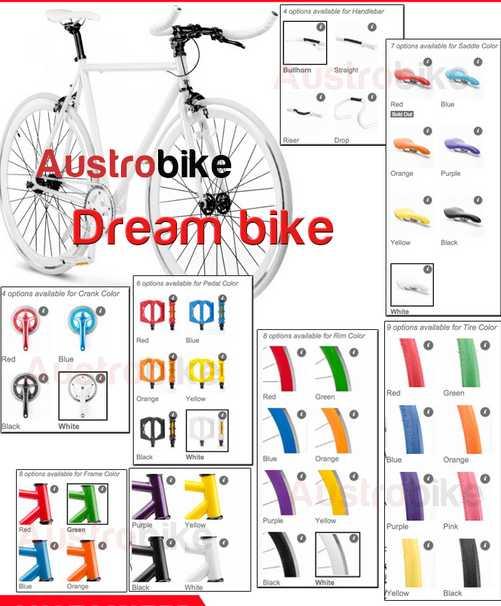 700C full aluminum alloy parts bamboo frame single speed fixed gear bike CHINA Austria design