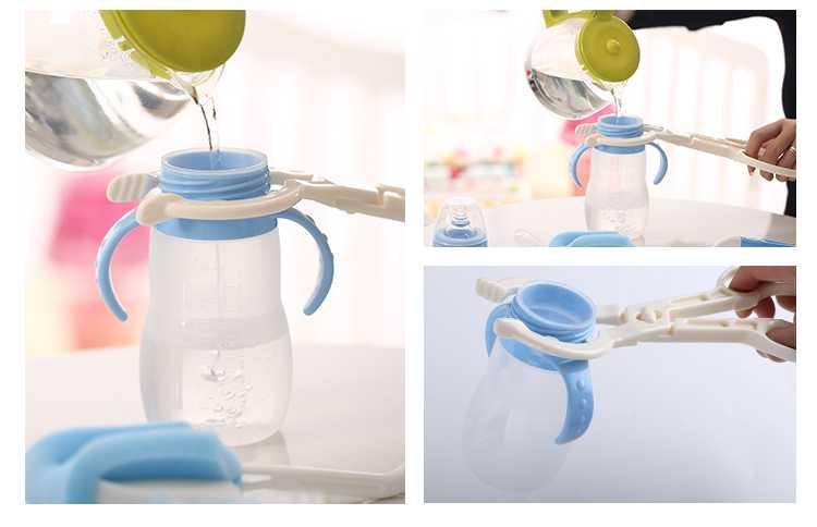 360 degree sponge plastic nylon milk feeding baby bottle brush set drink bottle brush