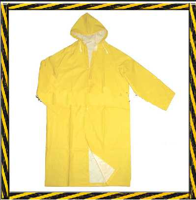 Waterproof PVC polyester rain coat