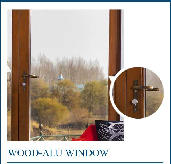 wood glass door