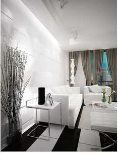 Shunqi Industrial Parguet Floor White and Black (PLF-0102)