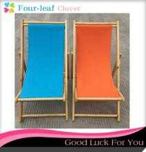 Outdoor beach chair, folding solid wooden chair, canvas chair, recreational chair, deck wooden chair