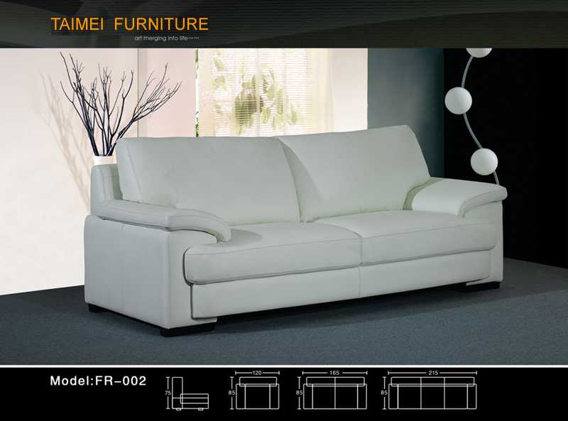 Living Room Sofa with Modern Genuine Leather Sofa (1+2+3)