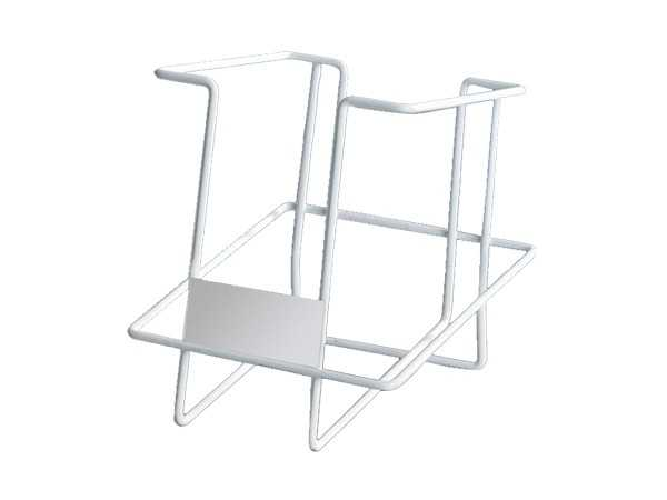 white metal simple design book rack