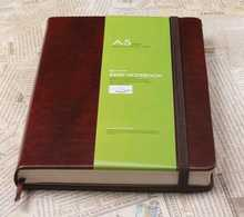 A5 leather cover cute diary for writing
