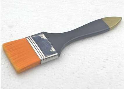 1.5inch golden nylon hair paint brush
