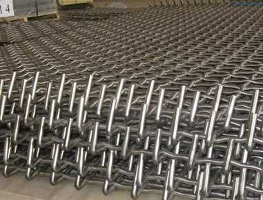 stone crusher sieving galvanized crimped wire mesh