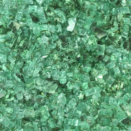 Hi Chipper 1/4 Inch Evergreen Reflective Fire Glass
