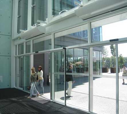 automatic aluminum sliding door