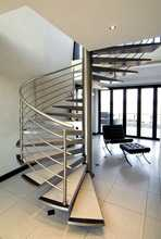 Diy round stainless steel wooden staircase made in China