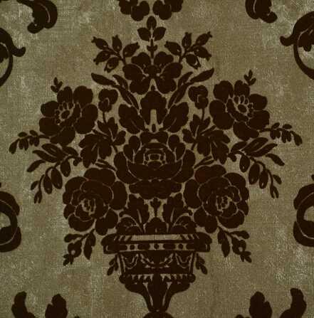 LV10105 Velvet wallcovering non woven back vinyl wallpaper flock