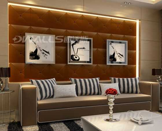 simple Modern decorative leather wall panels for office decoration