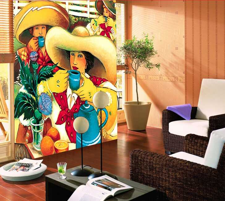 Simple people painting italian design style wallpaper murals for home decor
