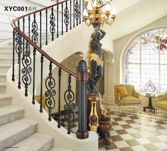 XYC001 Simply Aluminum indoor railings banisters