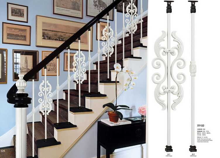 XY-02 aluminum stairs handrails prices