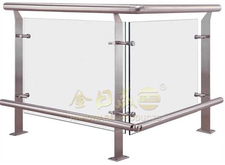FSJRS granite stair tread stainless steel removable handrail bracket