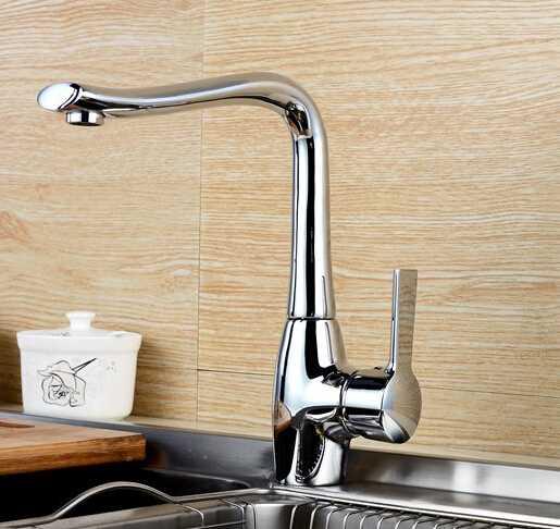 2016 graceful brass modern kitchen faucet