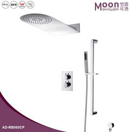 Exposed wall mount bathroom shower set/stainless steel shower/Three function shower set