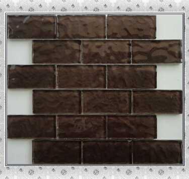 2x4 brown glass mosaic living room mosaic tile designs